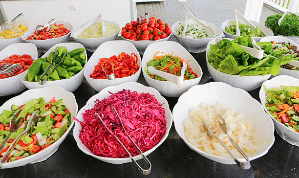 Vegetables and salad buffet