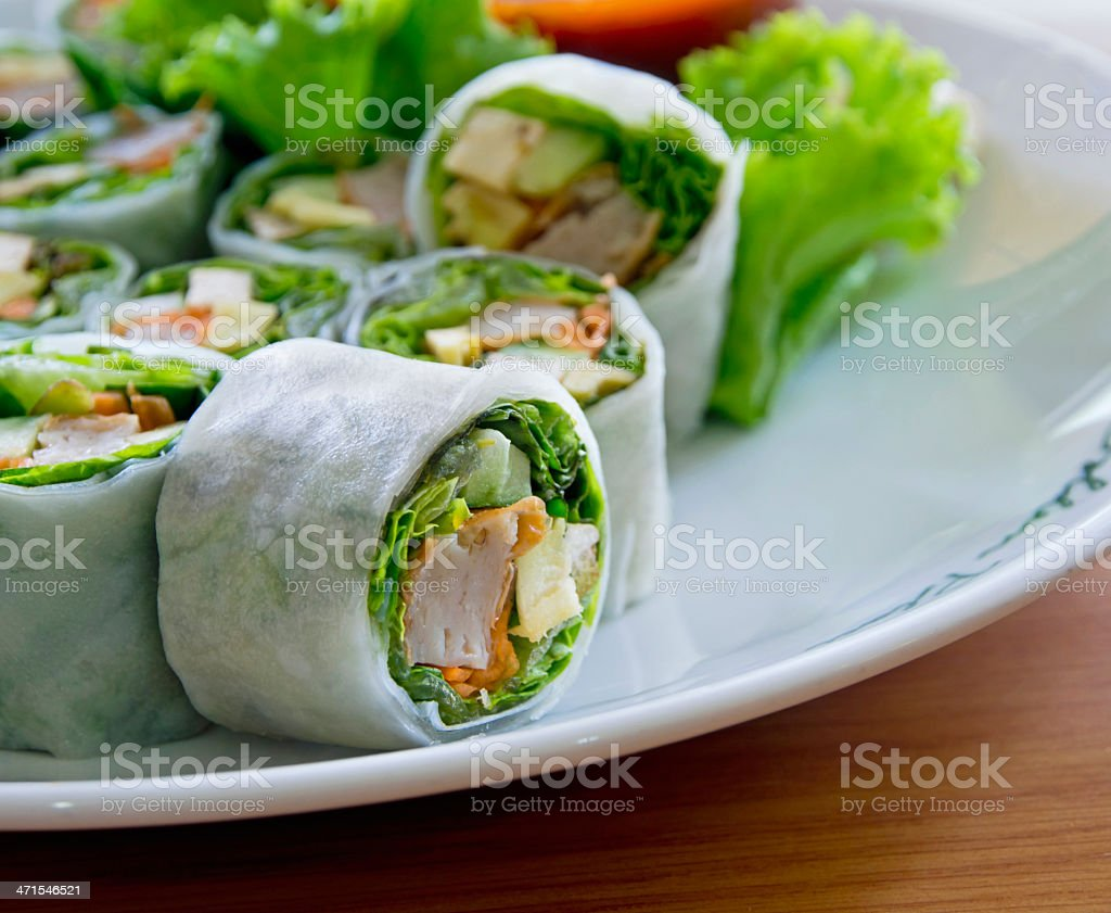 vegetables and soy bean cake in noodle tube royalty-free stock photo