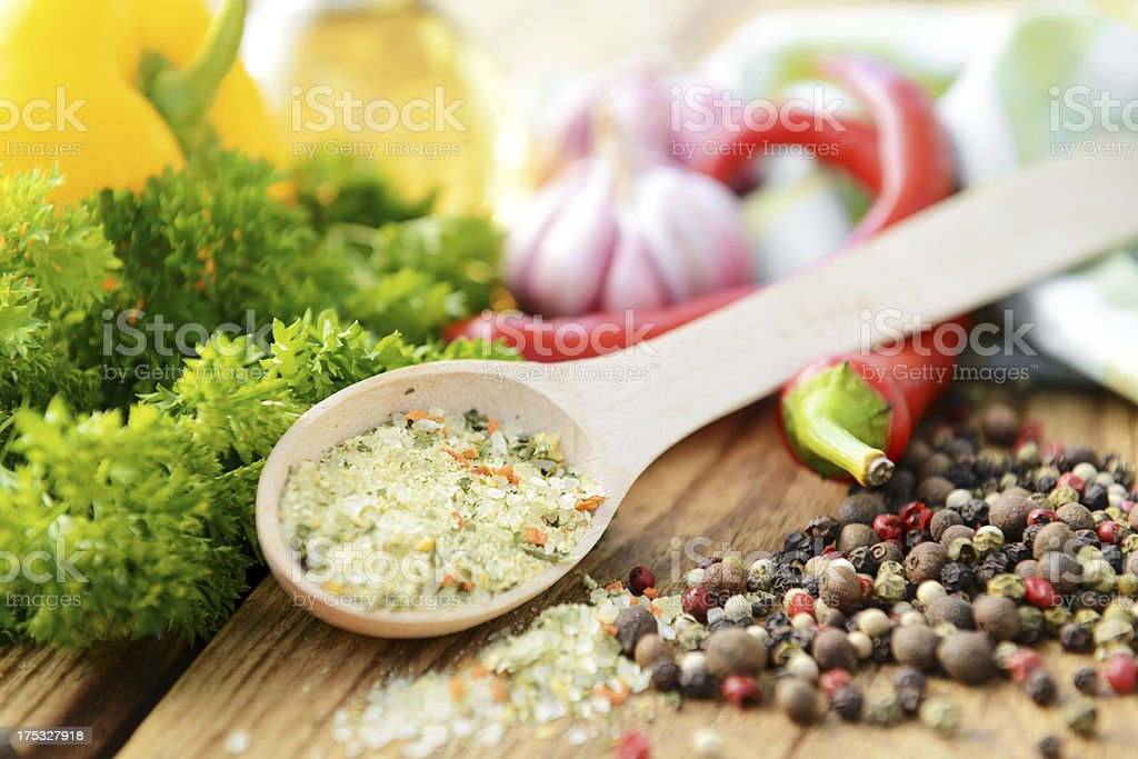 vegetables and spices royalty-free stock photo
