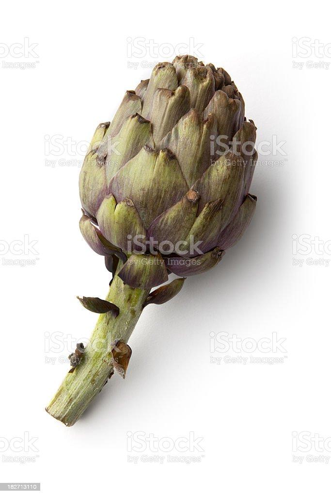 Vegetables: Artichoke Isolated on White Background royalty-free stock photo