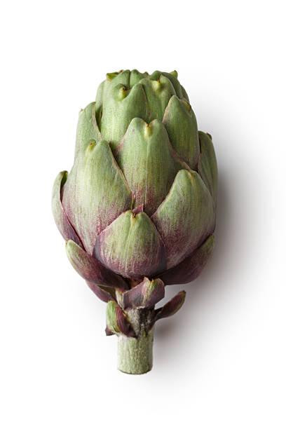 Vegetales : Alcachofa aislado sobre un fondo blanco - foto de stock