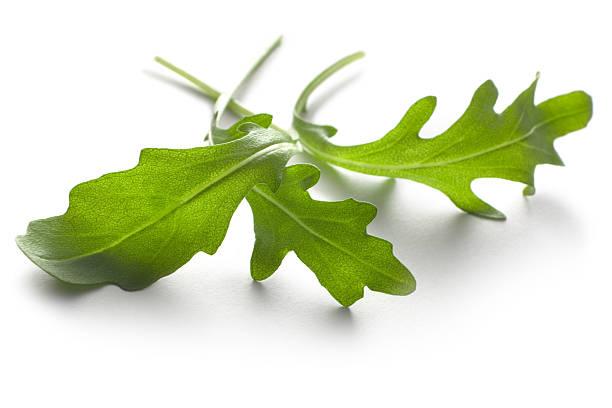 Vegetables: Arugula Lettuce Isolated on White Background stock photo