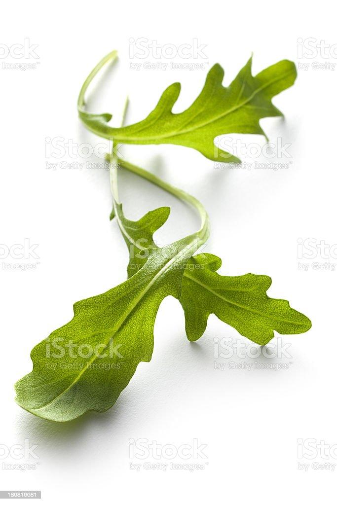Vegetables: Arugula Lettuce Isolated on White Background royalty-free stock photo