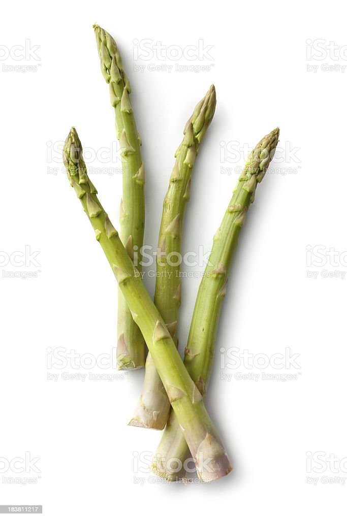 Vegetables: Asparagus Isolated on White Background stock photo