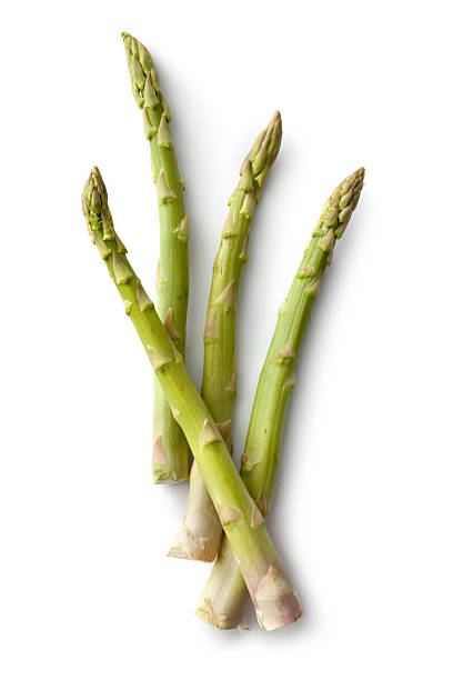 vegetables: asparagus isolated on white background - asparagus stock pictures, royalty-free photos & images