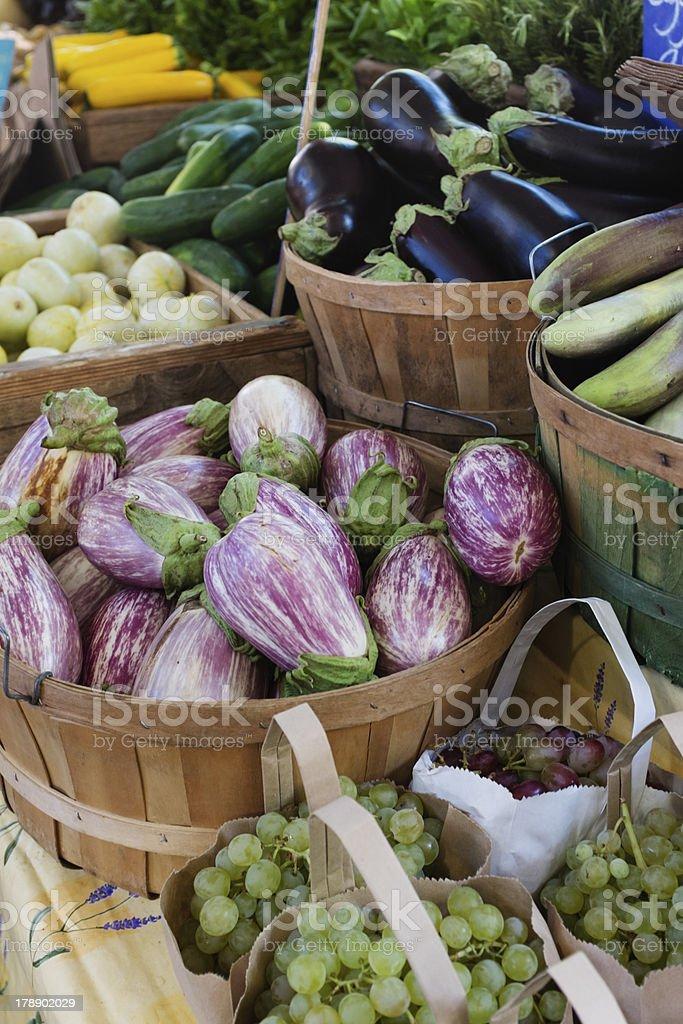 Vegetables at a farmers market royalty-free stock photo
