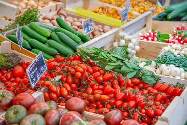 Gemüse auf einem Marktstand – Foto