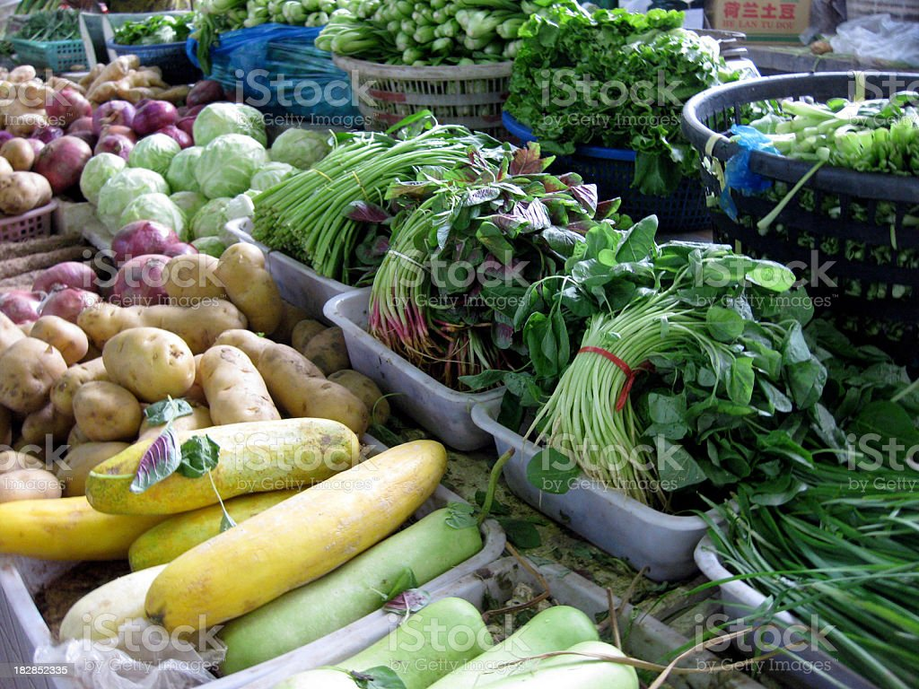Vegetables at farmers' market royalty-free stock photo