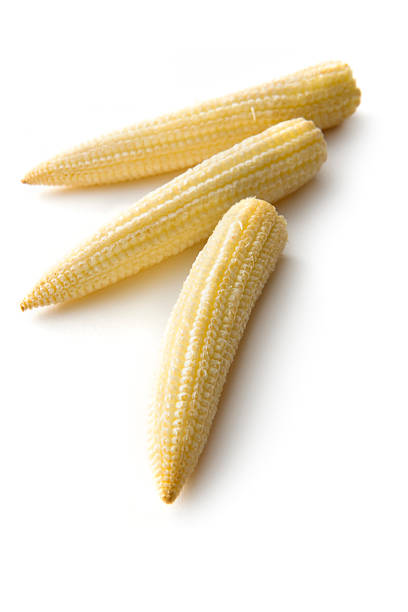 Vegetables: Baby Corn Isolated on White Background stock photo