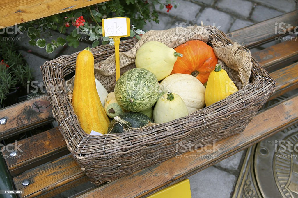 Vegetables basket royalty-free stock photo