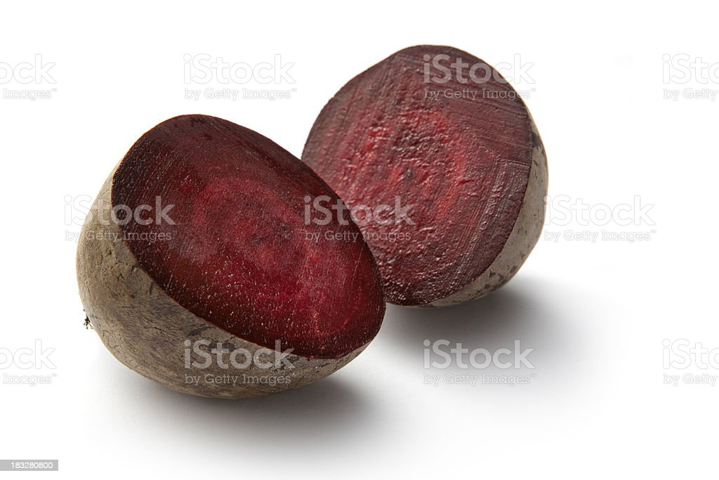 Vegetables: Beetroot Isolated on White Background royalty-free stock photo