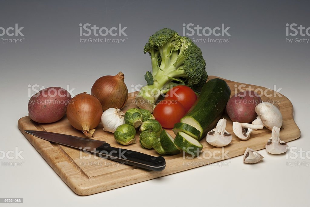 Vegetables being prepared royalty-free stock photo
