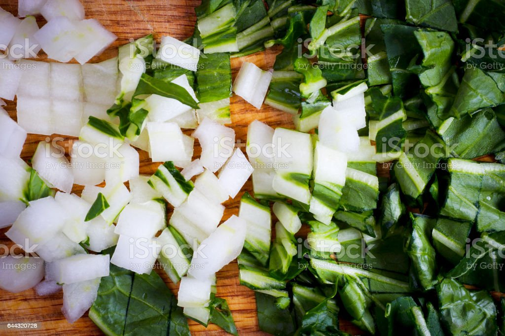 Vegetables - Bok Choy Chopped stock photo