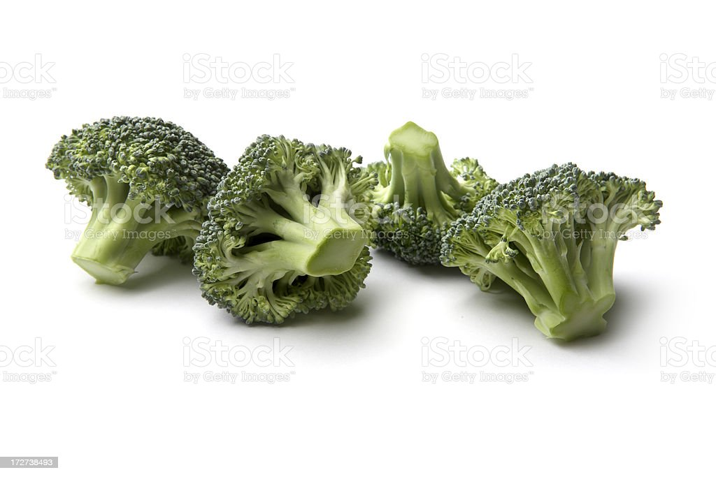Vegetables: Broccoli Isolated on White Background royalty-free stock photo