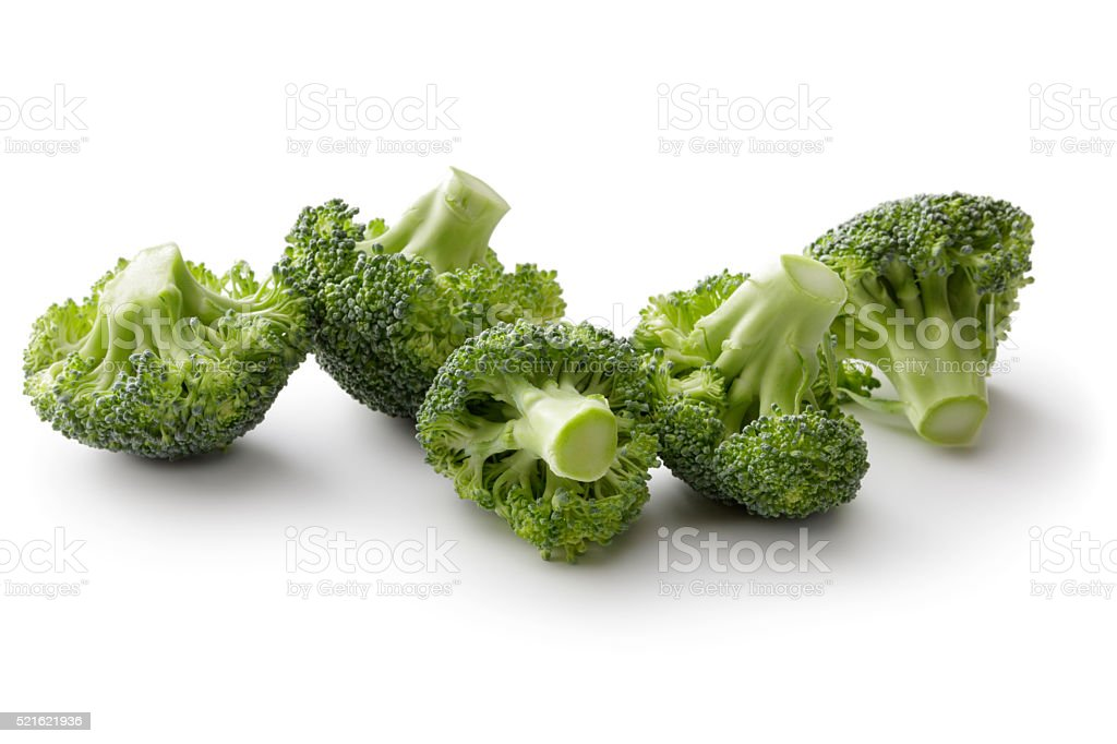 Vegetables: Broccoli Isolated on White Background​​​ foto