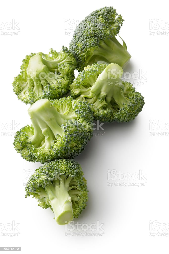 Vegetables: Broccoli Isolated on White Background stok fotoğrafı