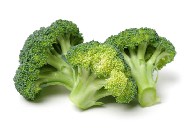 Vegetables: Broccoli Isolated on White Background stock photo