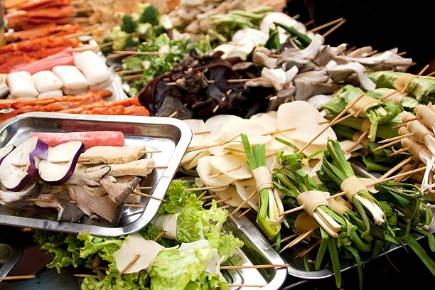 Couscous aux brochettes de légumes - Photo