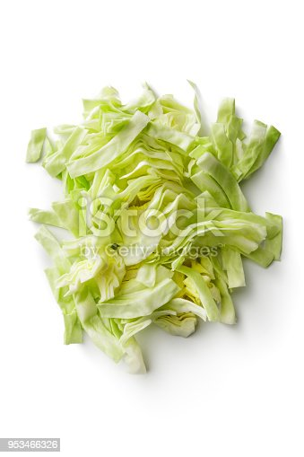 Vegetables: Cabbage Isolated on White Background