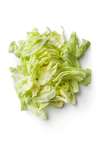 vegetables: cabbage isolated on white background - cavolo foto e immagini stock