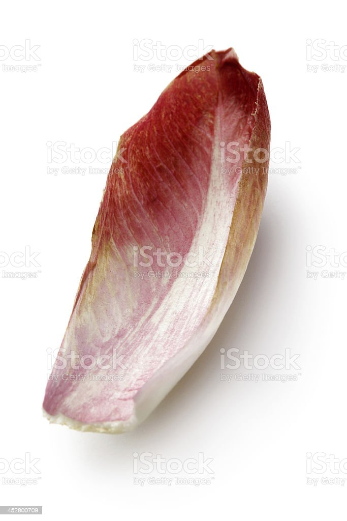 Vegetables: Carmine Chicory Isolated on White Background stock photo