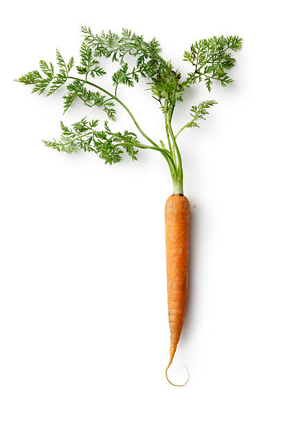 Vegetables: Carrot Isolated on White Background stock photo