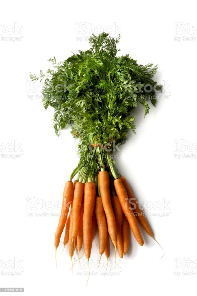 Vegetables: Carrots Isolated on White Background royalty-free stock photo