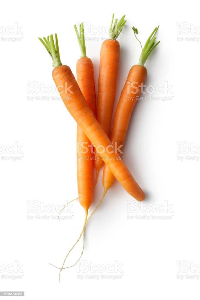 Vegetables: Carrots Isolated on White Background stock photo
