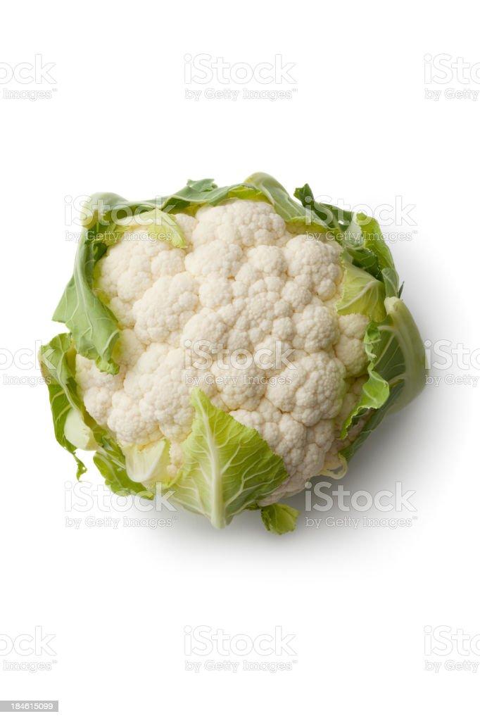 Vegetables: Cauliflower Isolated on White Background stock photo