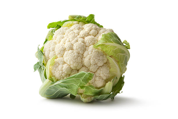 Vegetables: Cauliflower Isolated on White Background stock photo