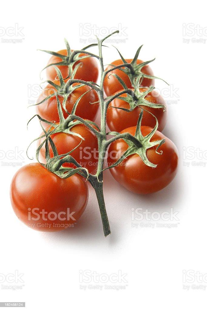Vegetables: Cherry Tomato Isolated on White Background royalty-free stock photo
