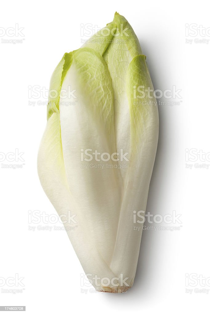 Vegetables: Chicory Isolated on White Background stock photo