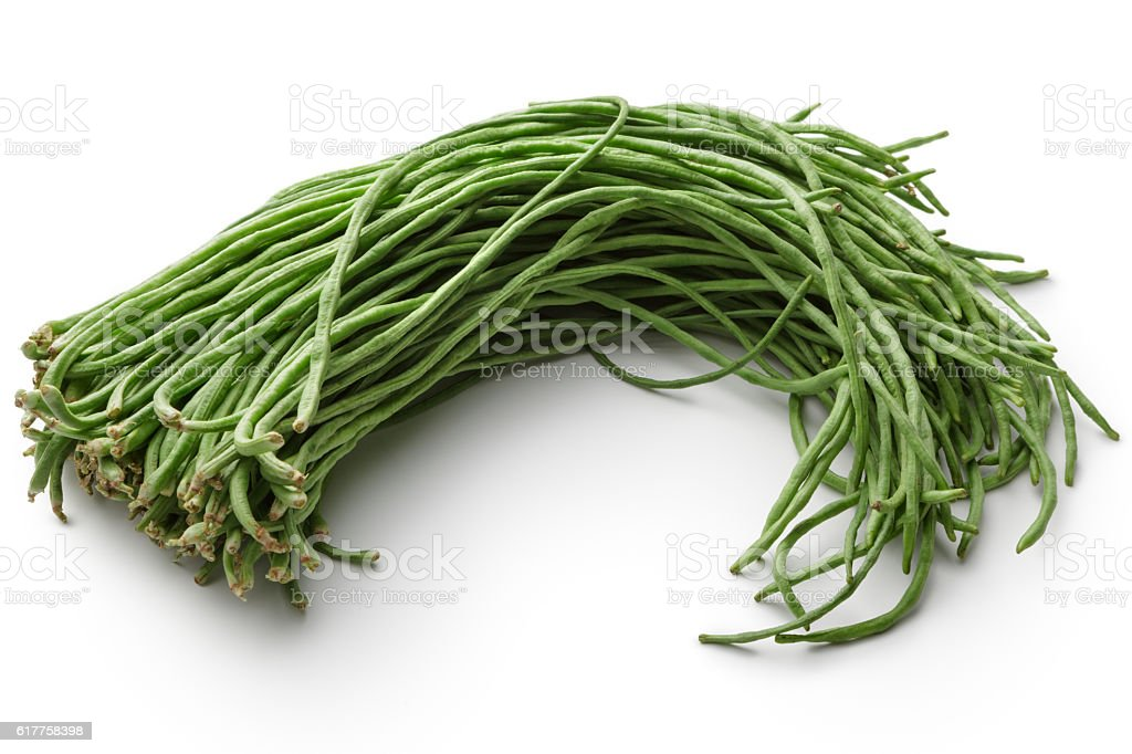 Vegetables: Chinese Long Beans Isolated on White Background stock photo