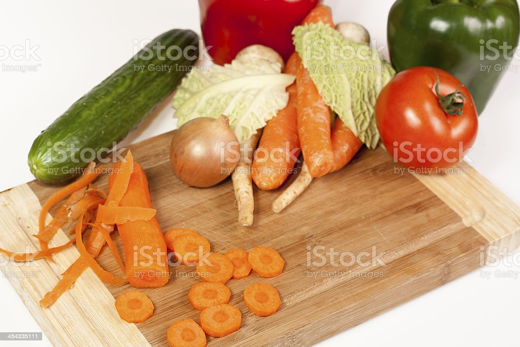 Vegetables composition royalty-free stock photo