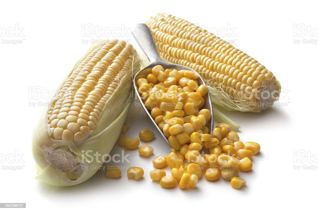 Vegetables: Corn Isolated on White Background royalty-free stock photo