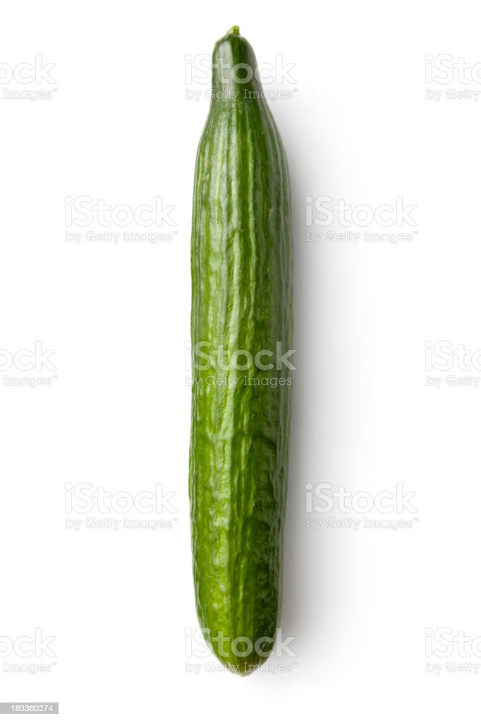 Vegetables: Cucumber Isolated on White Background royalty-free stock photo