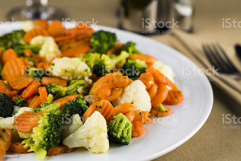 Vegetables dish stock photo