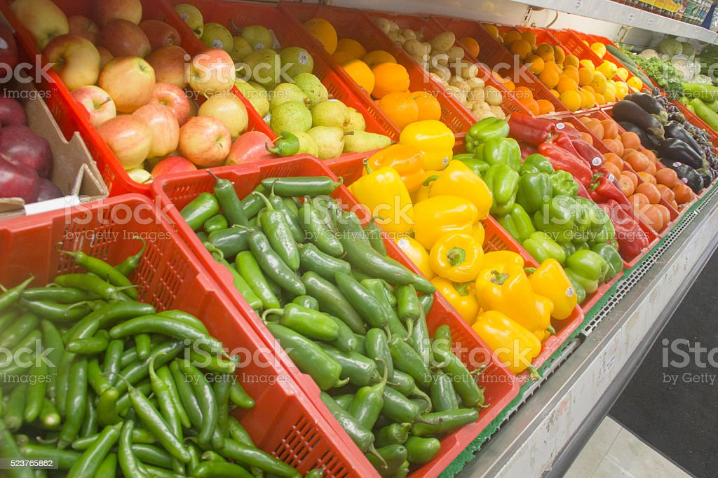 Vegetables Display stock photo