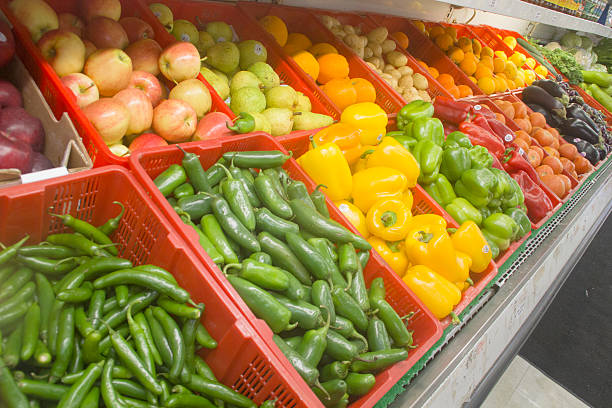 Vegetables Display stock photo