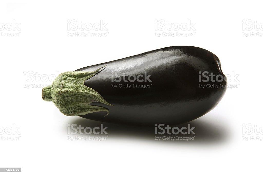 Vegetables: Eggplant Isolated on White Background royalty-free stock photo