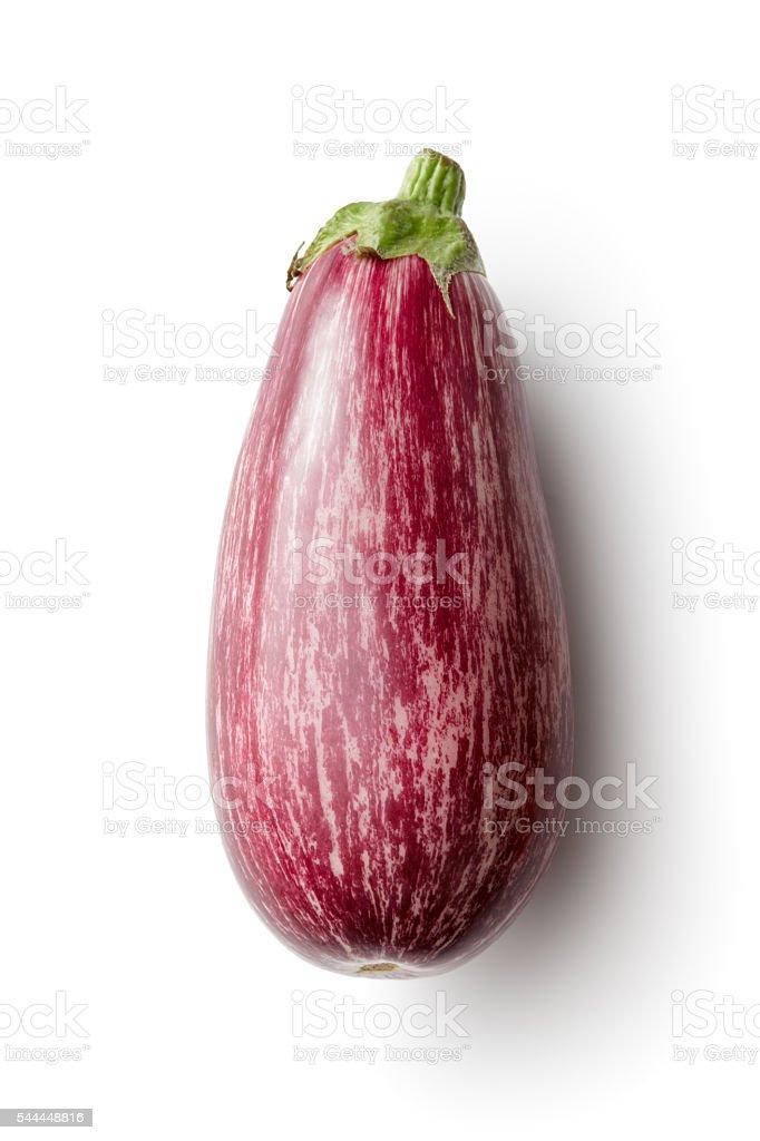 Vegetables: Eggplant Isolated on White Background stock photo