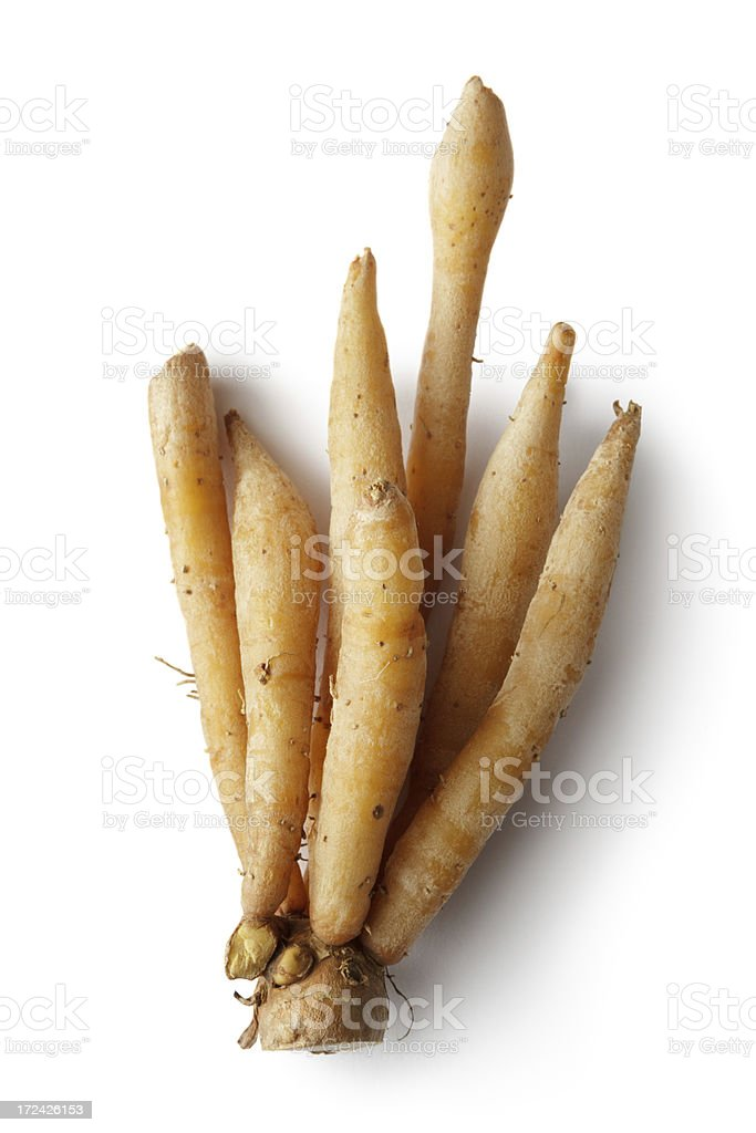 Vegetables: Finger Root Isolated on White Background royalty-free stock photo