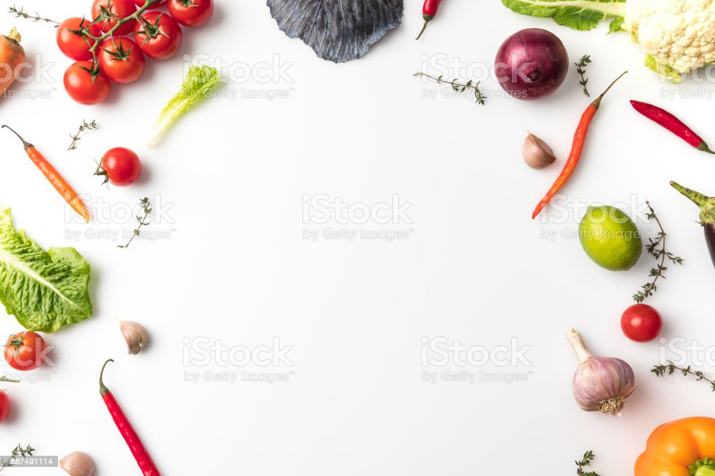 vegetables for salad stock photo