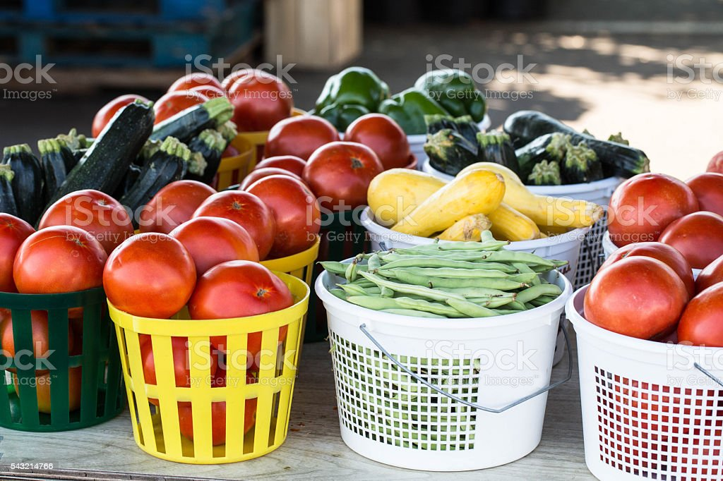 Vegetables For Sale at Farmers Market stock photo