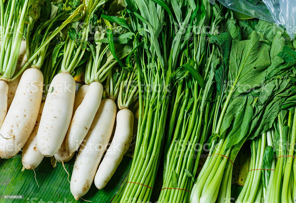Vegetables for sale in a market foto stock royalty-free