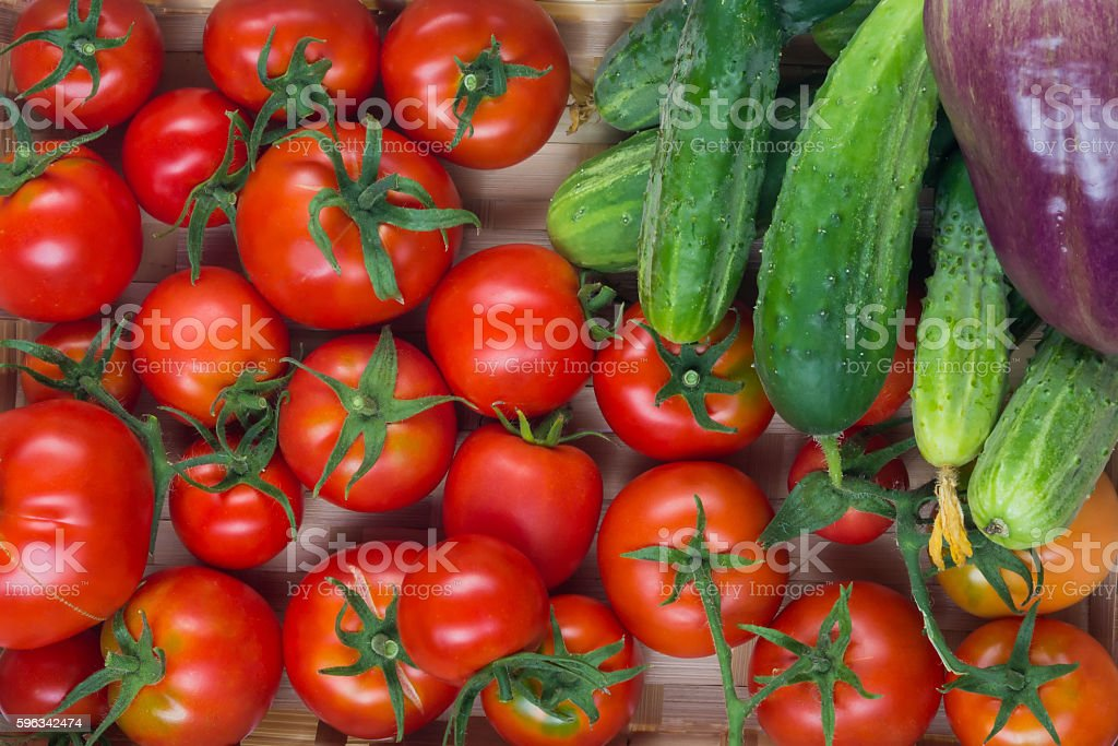 vegetables from his farm in the basket loose royalty-free stock photo