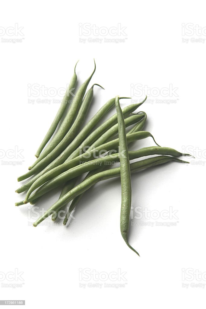 Vegetables: Green Bean Isolated on White Background royalty-free stock photo