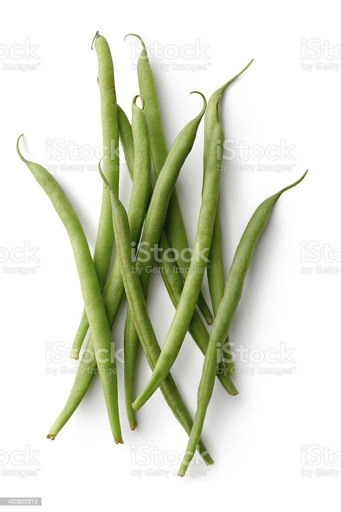 Vegetables: Green Bean Isolated on White Background stock photo