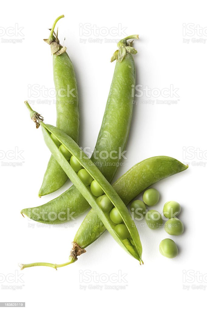 Vegetables: Green Peas Isolated on White Background royalty-free stock photo