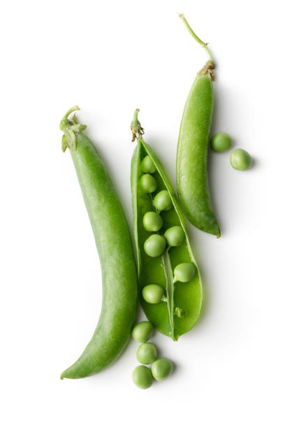 Vegetables: Green Peas Isolated on White Background stock photo